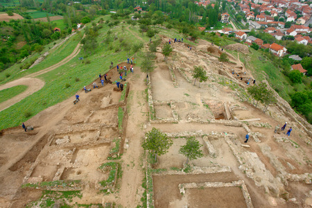 Archeology dig site in Vinica, Macedonia