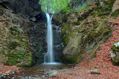 clean environment: Famous Waterfall in Spring Pehcevo, Macedonia hidden in deep in ecology clean environment forest