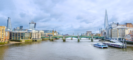 London skyline, United Kingdom - cityscape with modern buildings and Tower of London in autumn under blue bright sky Фото со стока - 27548494