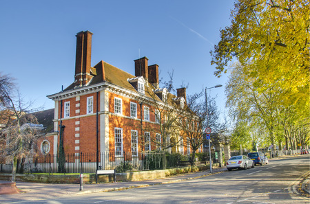 A characteristic English house in Kingston, London, UK