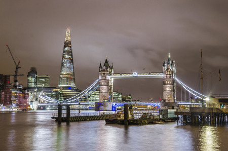 Tower Bridge and London skyline, United Kingdom photo