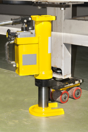 lifting jack: hydraulic floor jack  lifting, closeup