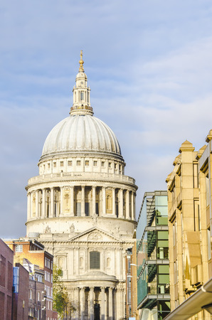 st pauls: St Pauls Cathedral in London  View from millenium bridge, vertical
