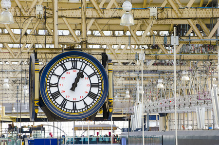 Train station clock photo