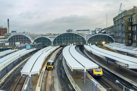 railway track: Paddington Station  Trains awaiting departure