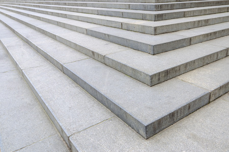 concrete stairs: Stairs corner at st  Paul cathedral in London, England