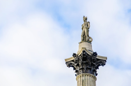 admiral: The statue of Admiral Nelson that sits ontop of Nelson Stock Photo