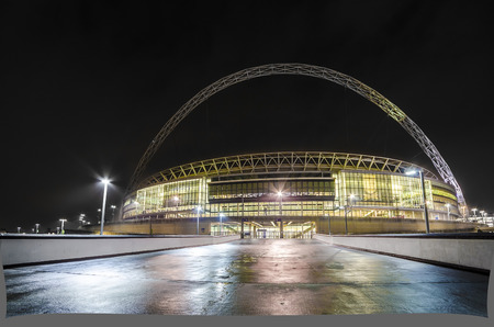 Wembley Stadium at night Editorial