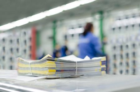 新聞の生産および印刷工程
