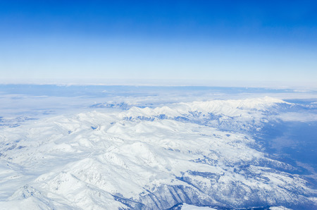 Alps mountains, aerial view