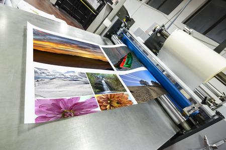 imprenta: m�quina offset rodillo laminador Foto de archivo