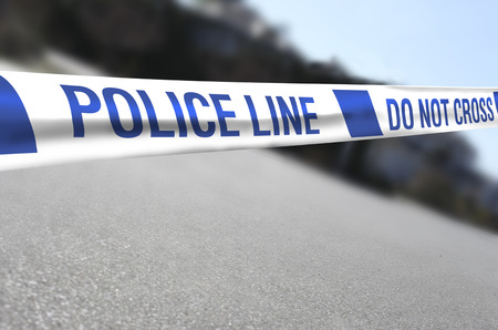 Crime scene, Police Line Do Not Cross photo