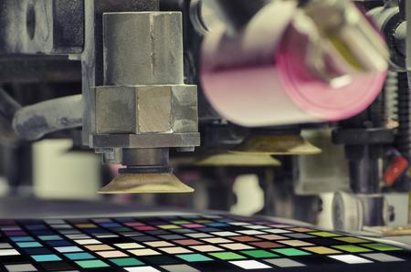 print machine print color control patch close up