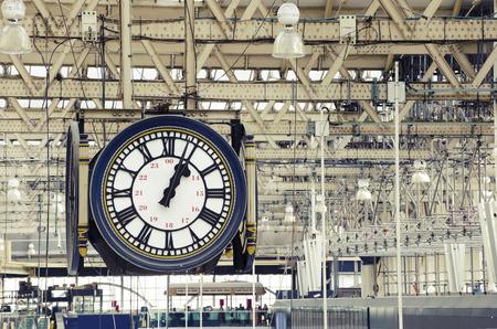 Train station clock Archivio Fotografico