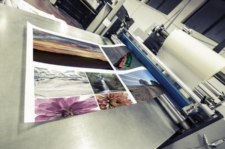 imprenta: máquina offset rodillo laminador Foto de archivo