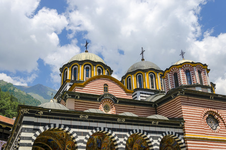 Domes and crosses the Orthodox Church of Rila, Bulgaria Фото со стока