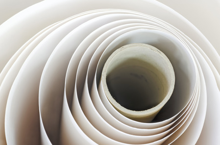 roll of paper: Paper roll in a print plant