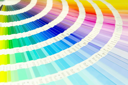 Color palette guide for printing industry isolated Standard-Bild