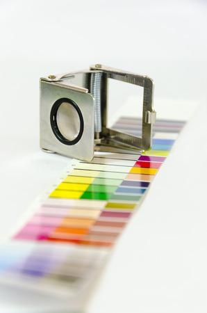 screen print: Press color management - print