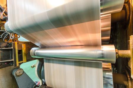Macchina da stampa, ha colpito impostare la velocità di stampa roto offset di stampa, giornali e magazine del settore produzione Archivio Fotografico - 34119102