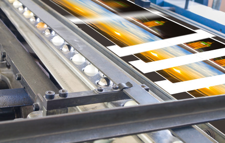 polygraphic: Polygraphic process in a modern printing house