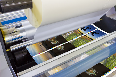 라미네이터의 인쇄기 상세 스톡 콘텐츠