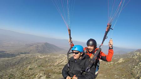 skydive: Tandem double paragliding flight