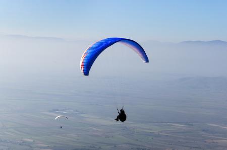 hang glider: paraglider in flight