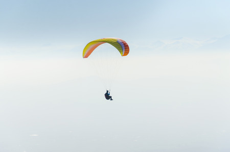 gliding: paragliding in the Himalayas
