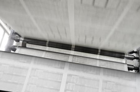Giornale stampa offset di campo lungo la linea di produzione Archivio Fotografico - 38588162