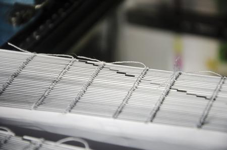 offset up: Book offset print production, close up