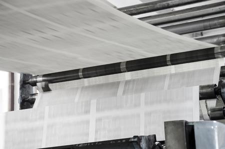 Newspaper offset print production line Standard-Bild