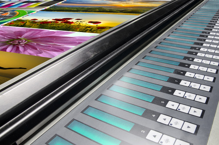 offset machine press print run at table, fountain key color management control unit