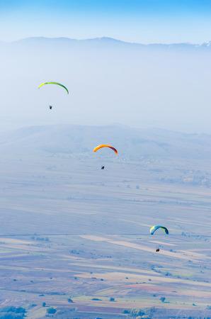 skydive: paragliding extreme sport