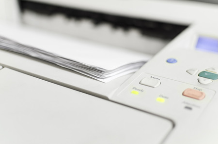 home office: Modern Laserjet printer for home and office Stock Photo