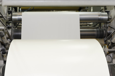 Large paper Roll Print machine in production