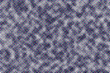 offset view: Closeup view of offset print halftone pattern