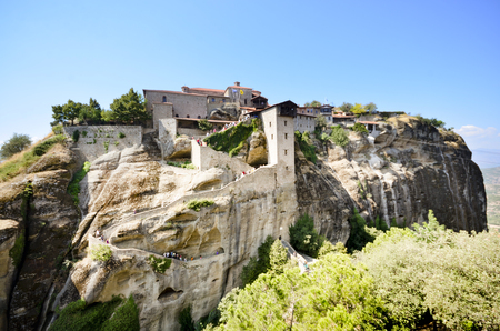 kalampaka: The Monastery of Great Meteoron is the largest monastery at Meteora. Meteora is one of the most precipitously built complexes of Eastern Orthodox monasteries in Greece