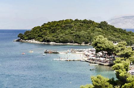 mediteranean: Beautiful bay lagoon vacation resort island