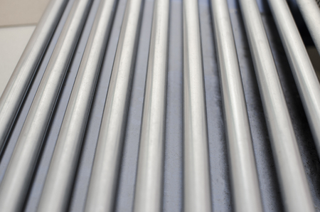 Conveyor rollers in print plant Stock Photo