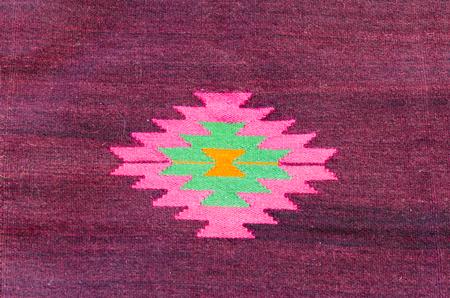 craft material: Red oriental carpet, rug detail