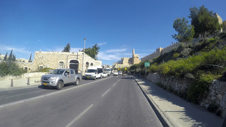 under ground: Drive pov of the City Streets of Jerusalem