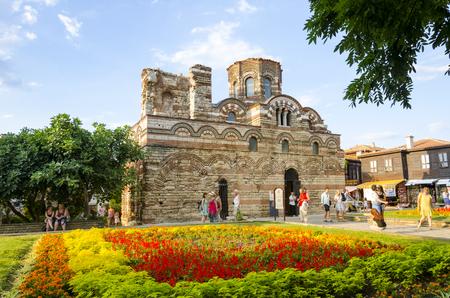NESEBAR, BULGARIA - circa JUL, 2016: The Church of Christ Pantocrator is a medieval Eastern Orthodox church in the Bulgarian town Neseba Editorial