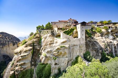 Famous religion landmark Monastery Meteora in Greece