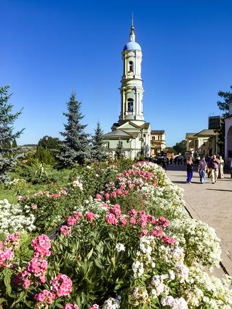 The bell-tower of the Holy Vvedensky Monastery (Optina Pustyn) 에디토리얼
