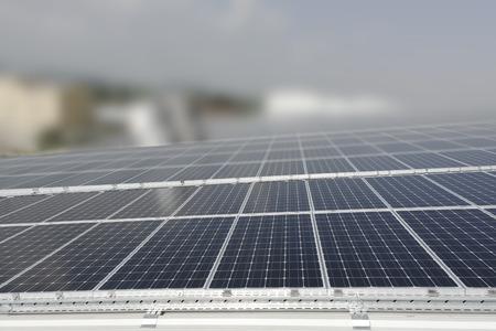 Solar Panels with dof Stock Photo