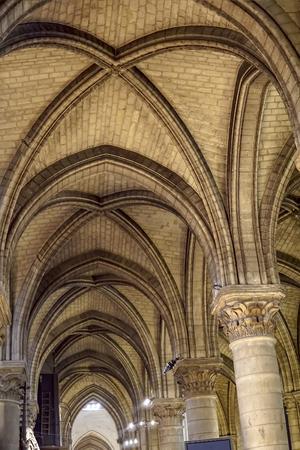 Notre Dame de Paris interior ceiling arches
