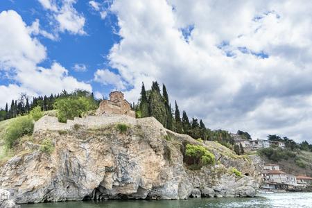 Jovan Kaneo church in Ohrid in a beautiful summer day, Republic of Macedonia
