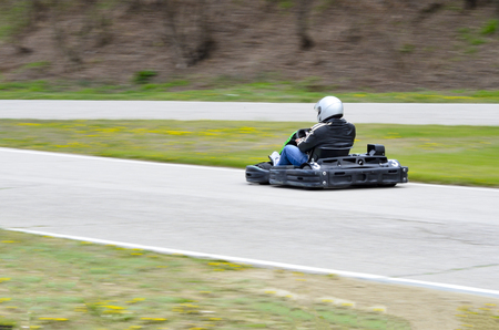 Outdoors competetive racing with go-karts