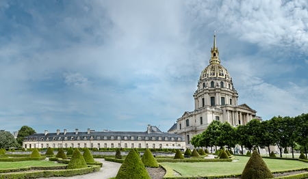 Panoramic veiw of Dome Les Invalides in Paris, France